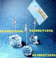 Kristallschreibtisch und Kartenhalter (BG3002)