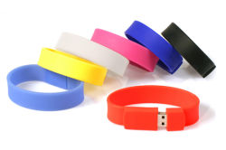 Populäres Silikon USB2.0 USB-grelle Platte des Armband-8GB