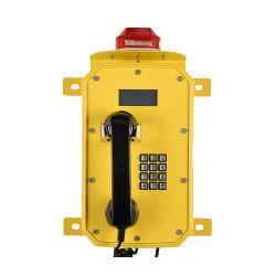 屋外の機密保護の緊急の電話VoIPの防水海洋の電話SosヘルプポイントLCD表示