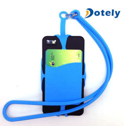 Teléfono celular el cordón de silicona Caso Sling titular de la Pulsera Collar