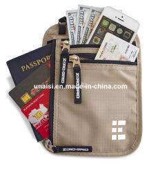 RFIDの妨害を用いる安全旅行首の袋のパスポートのホールダーの札入れ