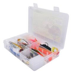 Scompartimenti che pescano le caselle di pesca di plastica della mosca di Plano di caso di memoria dell'attrezzatura dell'amo dell'esca di richiamo