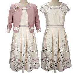 Uma forma de linha Office Suits 3/4 comprimento de chá de camisa de manga mãe da noiva vestidos vestido para a idade média das mulheres vestidos de casamento