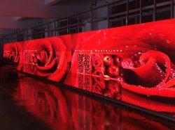 Il contesto in tensione della festa nuziale della sfilata di moda della video di parete di P4.81mm fase del comitato ha curvato lo schermo dell'interno della visualizzazione locativa LED di noleggio in arena