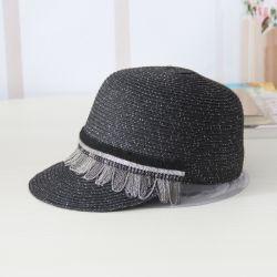 La tapa de señoras la moda mujer sombrero de paja