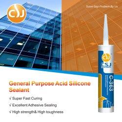 Transparente de propósito geral/ Apagar Acetoxy Vedante de Silicone RTV