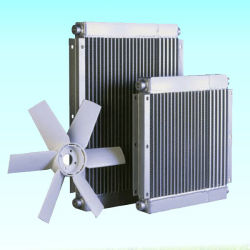 Il compressore d'aria della vite parte il radiatore dell'olio dell'aria di alluminio del sistema di raffreddamento del radiatore di scambio termico