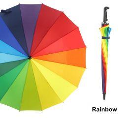 Preiswerter Regenbogen-Regenschirm des Großverkauf-16K mit mehrfachen Farben