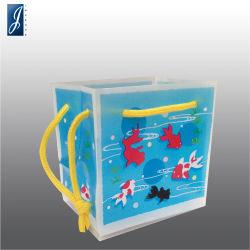 Kosmetisches Qualitäts-Hand-HDPE fördernde PlastikEinkaufstasche für Geschenk und das Verpacken
