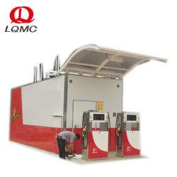 20FT contentorizados posto de combustível móvel com gerador e Painéis Solares