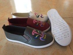 Neue Art-Einspritzung-Frauen-beiläufige SchuheSlip-onsegeltuch-Schuhe (HP829-5)