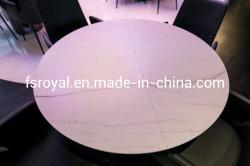 طاولة مستديرة من الرخام على قمة المطعم للأثاث غرفة الطعام أثاث منزلي