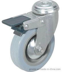 Foro del bullone di gomma grigio della macchina per colata continua della rotella con il freno di plastica