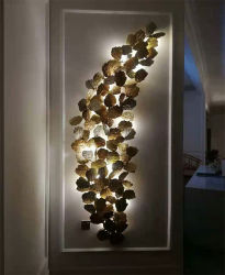 Große dekorative Hotel-Kupfer-Wand-Licht-Luxuxbeleuchtung, nehmen auch Abnehmer gebildete Größe an