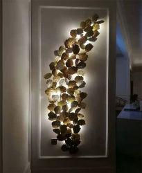 Il grande indicatore luminoso decorativo di lusso della parete dei ripari del rame LED per l'hotel, accetta il formato fatto cliente