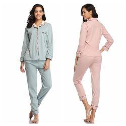 In het groot Vrouwen plus Katoenen van de Koker van de Grootte de Lange Zachte Reeks van de Pyjama