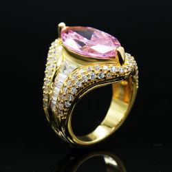 Уплотнительные кольца пальцев розового цвета циркон латунные мода украшения кольца