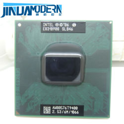 Lntel Core 2 Duo T9400 6m de cache, 2,53 GHz, bus frontal 1066 MHz Socket 478 pour GM45 PM45 CPU