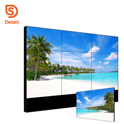 2018 Meerdere Reclame 4K LED Video Wall TV Display, 3*3 Multi Screen Did LCD Video Wall