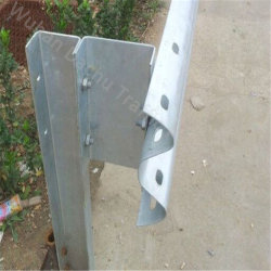 Glissière de sécurité de la route de l'acier galvanisé U Postes pour l'autoroute barrières Crash