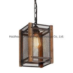 Jlc-5017 Houten Frame 1 van de Kooi van het Metaal van het huis Decoratief de Lichte Hangende Lamp van de Tegenhanger