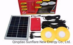2020 Ce certificat d'énergie solaire de l'enregistrement Accueil Kit d'éclairage LED système de la lumière avec 2 ampoules de lumière à LED pour la maison et une utilisation en extérieur