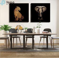 3D decorativas Elefante alívio realistas de Pintura em vidro Ferro Baixa (MR-YB6-2038)