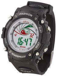 Hot vendre point Flash LED lumière Watch, résistant à l'eau 3 ATM Mens numérique montre de sport de poignet