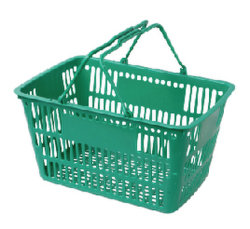 Bunter Plastiksupermarkt-Verbrauchergrossmarkt-Einkaufskorb