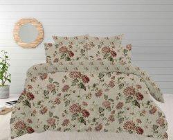 Fatto in fiore 100% del pigmento del cotone della Cina ha stampato l'insieme stabilito del copriletto del coperchio della trapunta del Duvet del lenzuolo dell'assestamento stabilito stabilito del coperchio dell'hotel e della casa