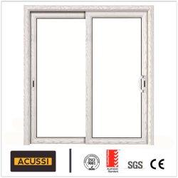 空の緩和されたガラスAs2047の標準のアルミニウム重い滑走の防音の熱絶縁体のドア