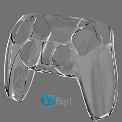 Byit 2021 Grosso cristal transparente da tampa da caixa de PC para a PS5 Controller