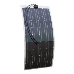100W mono Semi-Flexible cellule SOLAIRE PANNEAU SOLAIRE POUR RV bateau Camping Chargeur de batterie 12V