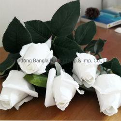 Venda por grosso de Toque Real Romântico Rose decoração da festa de casamento Flores artificiais