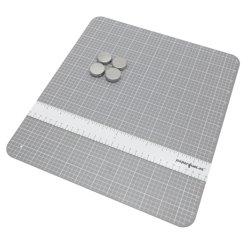 """28062 Mini carte magnétique de 12x13,5"""" avec la règle et d'aimants, chaque ensemble de boîte de couleur"""