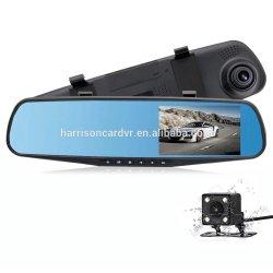1080P Voiture DVR Lentille Double voiture caméra Enregistreur vidéo miroir rétroviseur Dash Cam avec Auto Blackbox G-Sensor de vision de nuit