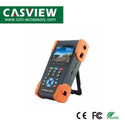 كاميرا IP التناظرية مقاس 3.5 بوصة وجهاز اختبار CVBS مع خرج قدرة بقدرة 48 فولت بتقنية PoE، Dahua، Hikvision، Axis، إلخ. اختبار كاميرا Onvif DC12 فولت 2A، خرج قدرة DC48V PoE