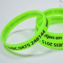Различные цвета логотипа низкая MOQ фестиваль рекламы акции силиконовый браслет