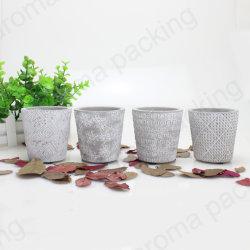 Novo Produto Cinza Cimento Personalizado Candle Jar/detentor