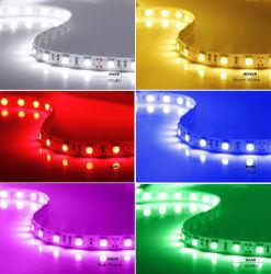 Цвет RGB LED гибкие ленточные освещения DC12V/24V для украшения