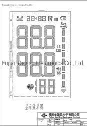 Gewöhnliche gelbe Unterseite + IPS machen Sphygmomanometer LCD glatt