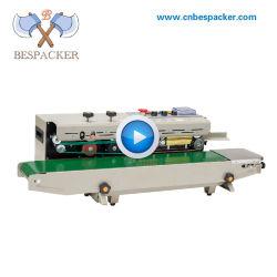 Roda de tinta data impressa banda contínua máquina de vedação