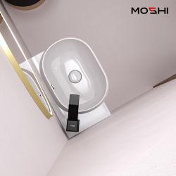 Bagni bagno in ceramica bagno Bacino - piano di bancone Sink Vessel - rettangolare Vasca di lavaggio a parete curva