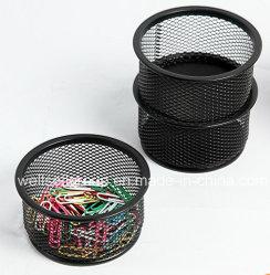 Organizador de escritorio de la moda de malla de alambre de metal apilable porta clips