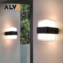 مصباح LED حائطي LED 2*7 واط مربع، IP54، معتمد من CE