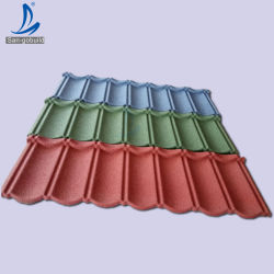 أوراق سقف عالية الجودة ضمان لون ستون مطلي 50 سنة المعادن مصنع ألواح السقف Whosale الأسعار المطلوبين