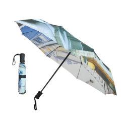 패션 완전 인쇄 접이식 21인치 맞춤형 여행 자동 프로모션을 위한 접이식 우산