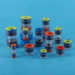Mini cable de fibra óptica conexiones neumáticas acoplamientos rápidos de plástico tubo de aire de ronda de la manguera conectores conducto Micro