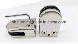 Abrazaderas de raíl de acero inoxidable Nsto de vidrio sin marco para rieles de vidrio Base de abrazadera