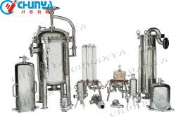 약국 식품용 스테인리스 스틸 304 316L RO 물 필터 유제품 과일 주스 음료 화학 액체 오일 필터 하우징